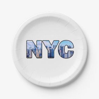 NYC 7 INCH PAPER PLATE