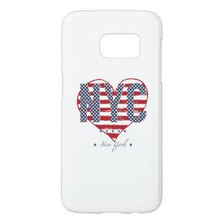 NYC American Flag Heart