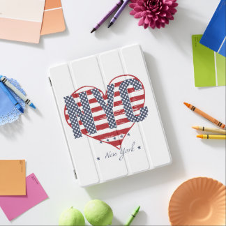 NYC American Flag Heart iPad Cover