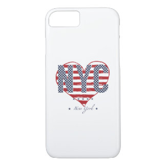 NYC American Flag Heart iPhone 8/7 Case