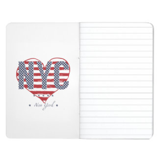 NYC American Flag Heart Journal