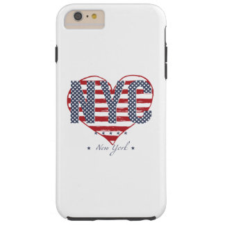 NYC American Flag Heart Tough iPhone 6 Plus Case