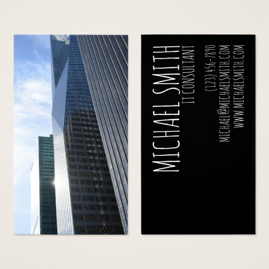 NYC Architecture Skyscraper Photography Metallic Business Card