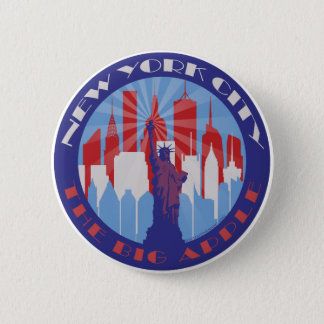 NYC Big Apple Patriot 6 Cm Round Badge