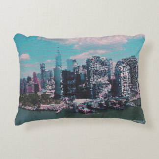 NYC Big Apple small dots graphic style Decorative Cushion