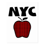 NYC - Big Apple With All 5 Boroughs Postcard