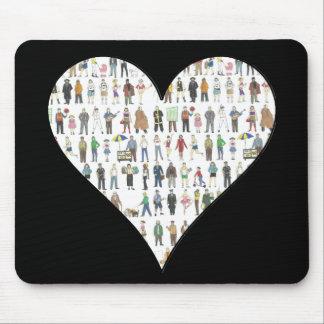 NYC Black Heart New York City People Mousepad