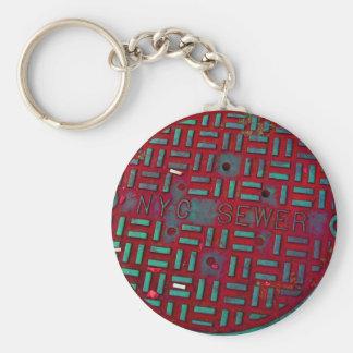 NYC Broadway Street Manhole Cover Key Ring