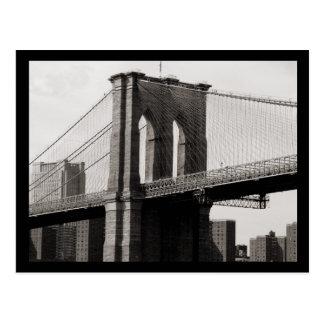 NYC Brooklyn Bridge Closeup Postcard