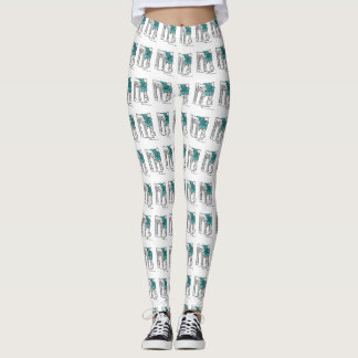 NYC Brooklyn Bridge Hanukkah Holiday Leggings