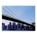 NYC Brooklyn Bridge Manhattan New York postcard