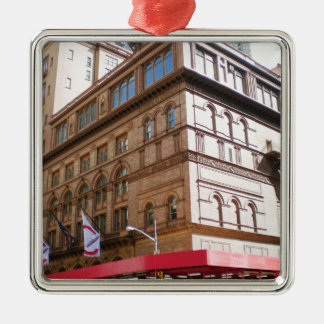 NYC Carnegie Hall Metal Ornament