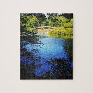 NYC Central Park Lake Bow Bridge New York City Puzzle