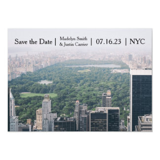 NYC Central Park Photo - Save the Date Card