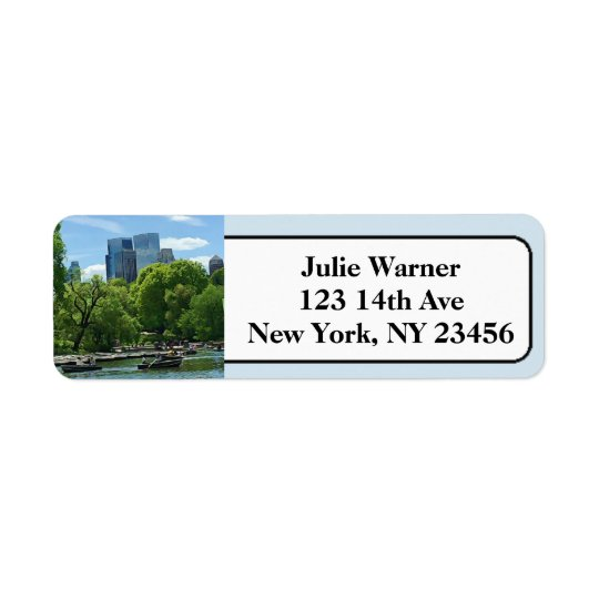 NYC Central Park  Return Address Stickers