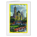 NYC Central Park View of 5th Ave Hotels Greeting Cards