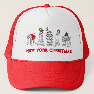 NYC Christmas New York Landmarks Xmas Hat
