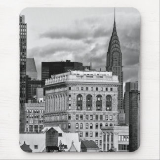 NYC: Chrysler Building, Back of Flatiron B&W 001 Mouse Pad