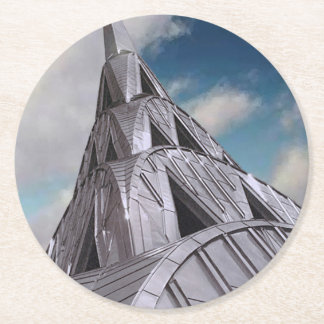 NYC Chrysler Building Round Paper Coaster