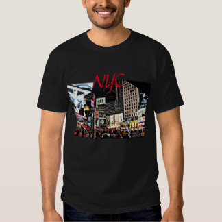 NYC City Lights and Signs and nightlife Tshirts