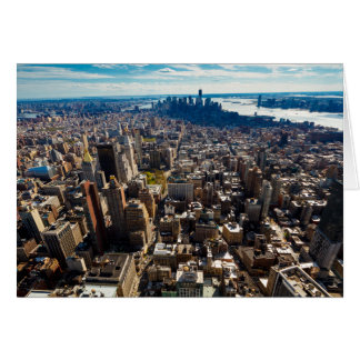 NYC City View From Empire State Building 3 Card