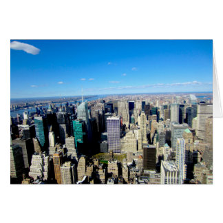 NYC City View From Empire State Building Card