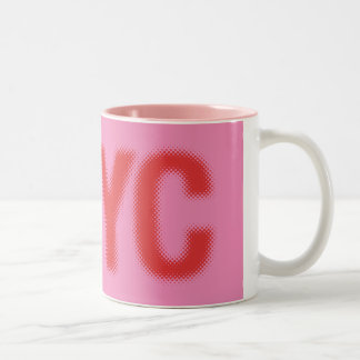 NYC Coffee Cup (red pink) Two-Tone Mug