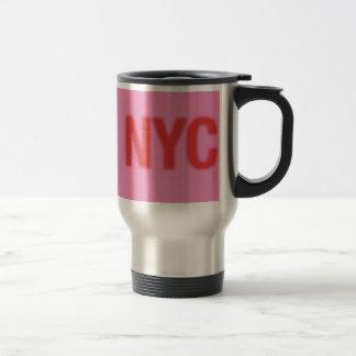 NYC Coffee Travel Mug red pink