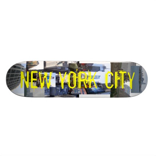 NYC collage skateboard