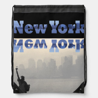 NYC Commuter Traveler New York City CricketDiane Drawstring Bag
