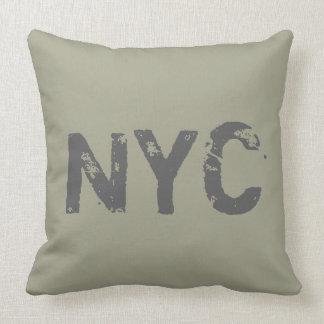 NYC CricketDiane Street Style Urban Graffiti Olive Throw Pillow