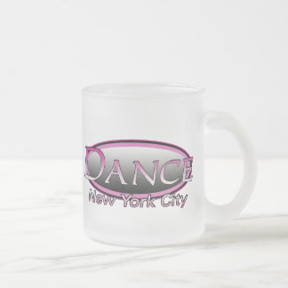 NYC Dance Hot Pink Logo Frosted Glass Mug Small