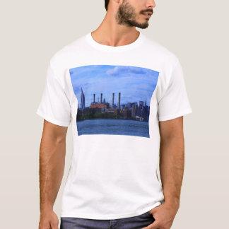 NYC East River Skyline: Skyscrapers & Smokestacks T-Shirt