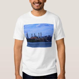 NYC East River Skyline: Skyscrapers & Smokestacks Tees