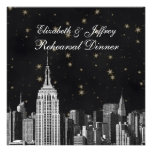 NYC ESB Skyline Etched Black Starry Rehearsal Din Custom Announcements