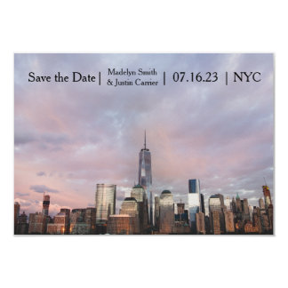 NYC Freedom Tower Photo - 3x5 Save the Date Card