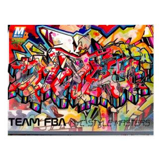NYC GRAFFITI POST CARD
