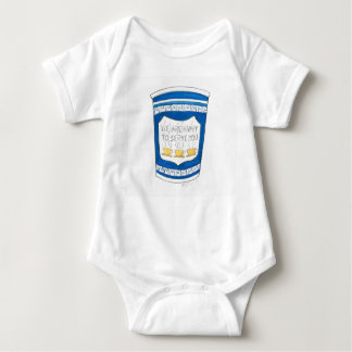 NYC Greek Diner Coffee Cup Happy to Serve You Baby Bodysuit