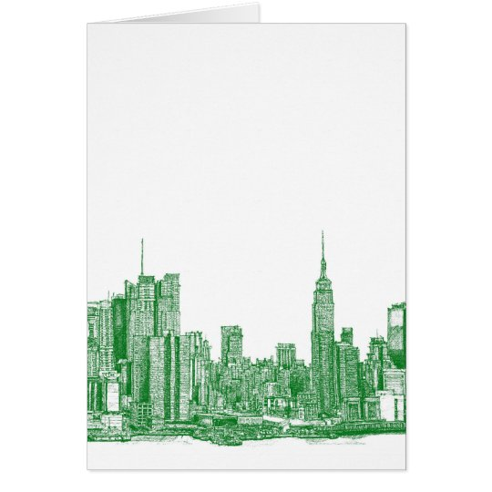 NYC green sketch Card