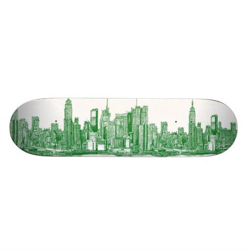 NYC green sketch Skate Decks