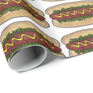 NYC Hot Dog w/ Mustard Relish Foodie Gift Wrap