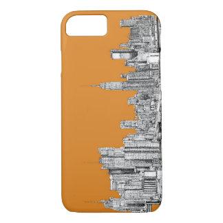 NYC In orange iPhone 7 Case