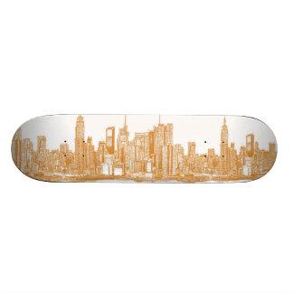 NYC in orange Skate Boards