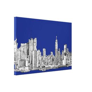 NYC ink royal blue Canvas Prints