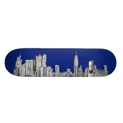 NYC ink royal blue Skateboard Deck