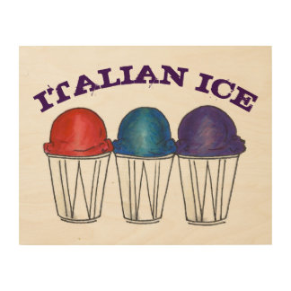 NYC Italian Ice Shaved Ice Snocone Sno Cone Summer Wood Wall Art
