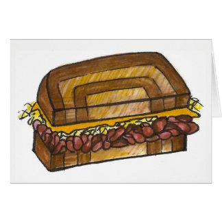 NYC Jewish Deli Reuben Corned Beef Sandwich Foodie Card