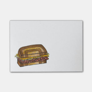 NYC Jewish Deli Reuben Sandwich Foodie Post Its Post-it® Notes