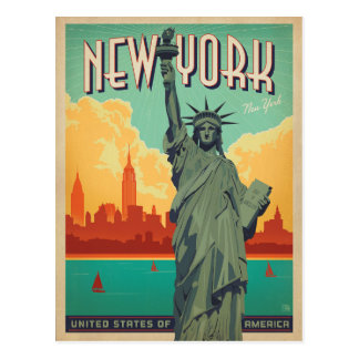 NYC - Lady Liberty Postcard
