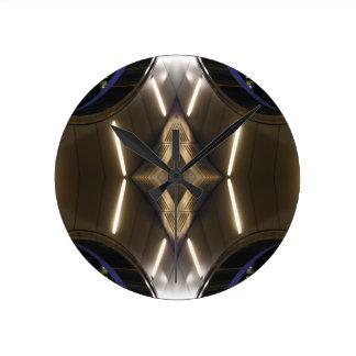 NYC Landmarks Futuristic Unusual Urban Elegance Round Clock